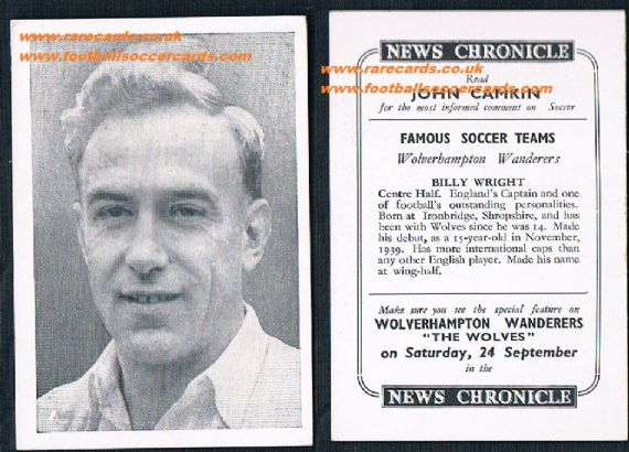 1955 Wolves News Chronicle Wright